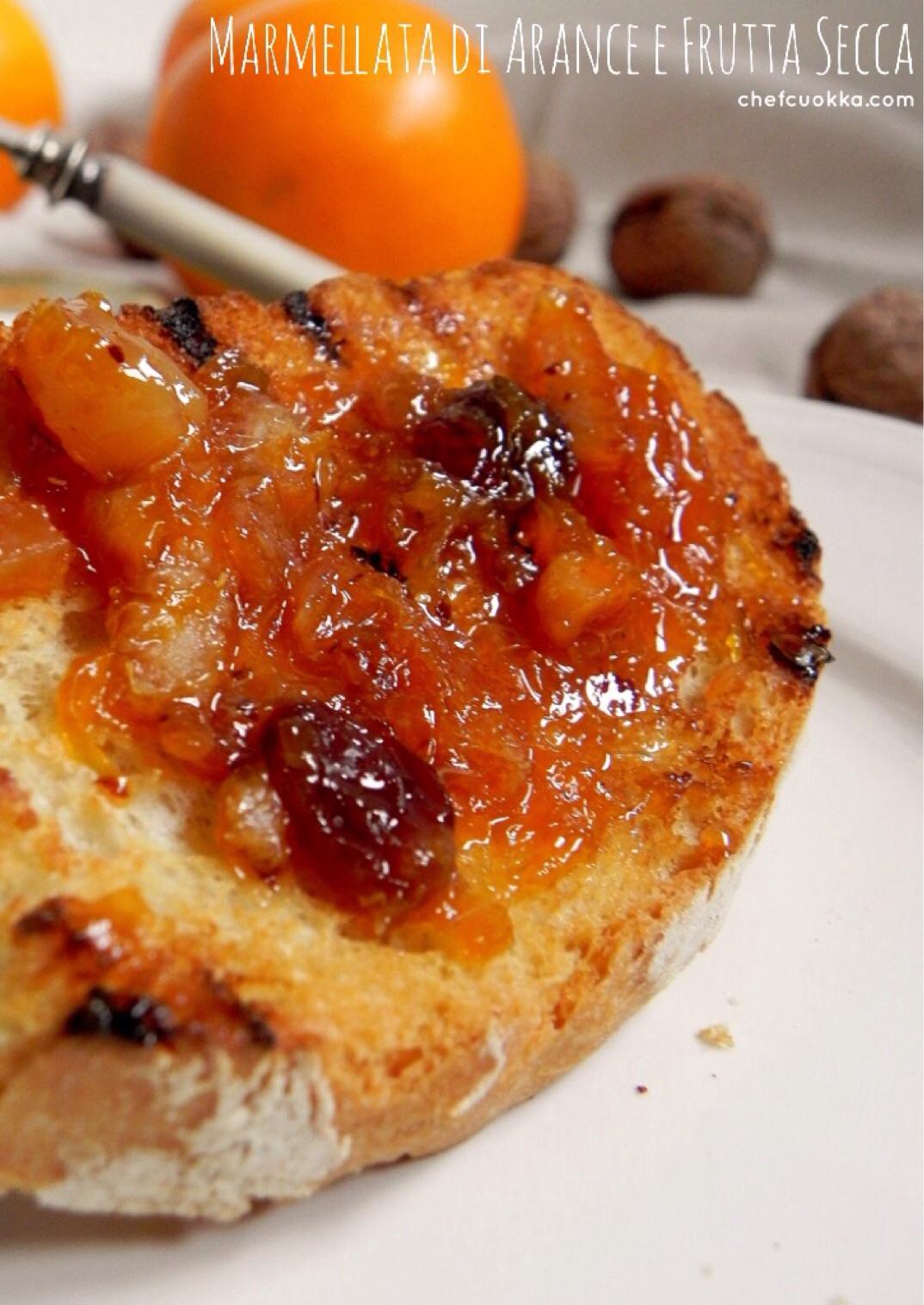 Far Bollire Vasetti Marmellata marmellata di arance e frutta secca – chefcuokka